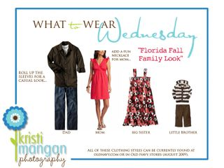 What to wear wednesday template_florida fall family