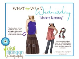 What to wear wednesday template_MATERNITY