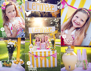 Palm beach child photographer lemonade stand